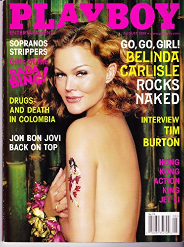 Playboy Magazine August 2001 with Belinda Carlisle from the Go Go's