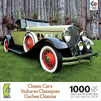 Classic Cars 1000 Pc Jigsaw Puzzle by Ceaco, Jigsaw Puzzles - Amazon