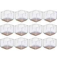 HQdeal 12 pcs Protectores de silicona patas de silla de mesa tapas de patas de goma almohadillas antideslizantes para…