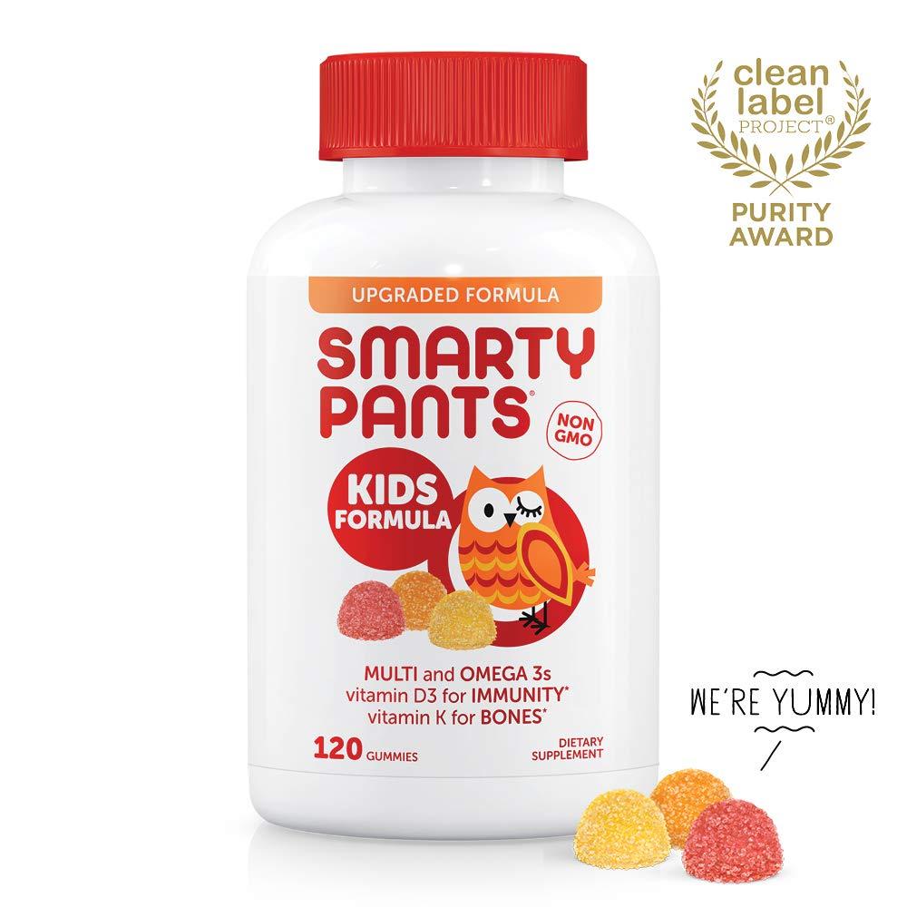 SmartyPants Kids Formula Daily Gummy Vitamins: Gluten Free, Multivitamin & Omega 3 Fish Oil (DHA/EPA), Methyl B12, Vitamin D3, Vitamin B6, 120 Count (30 Day Supply) - Packaging May Vary by SmartyPants Vitamins