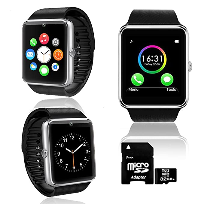 UNLOCKED! GT8 Bluetooth SmartWatch 2-in-1 Phone Built-in Camera - Free 32GB SD!