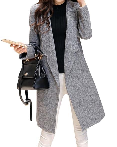 Mantel grau damen lang