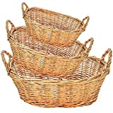 Oval Willow Bowl Group of 3 (Set of 10)(30 Baskets)