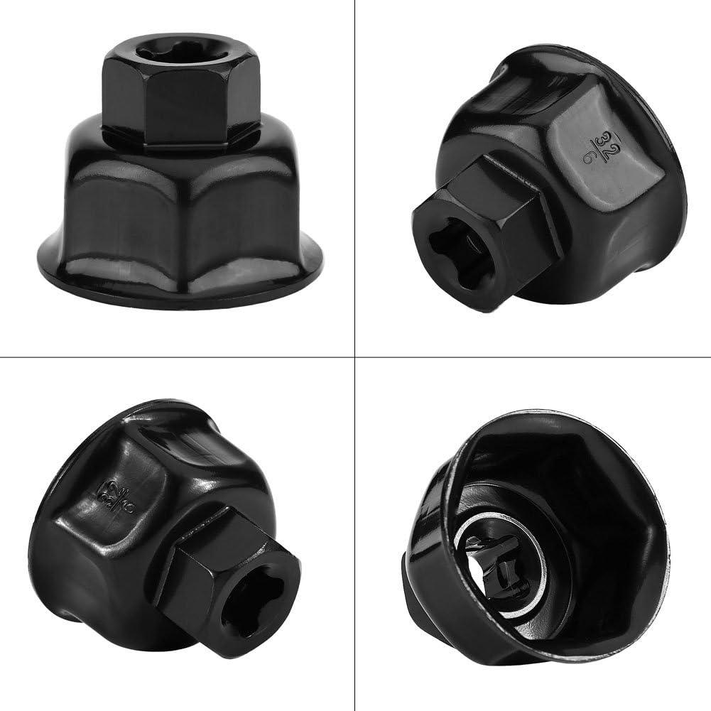 32mm 3//8Cl/é de filtre /à huile de voiture Capuchon en m/étal Filtre /à huile Socket Drive Remover Tool Cl/é de filtre /à huile