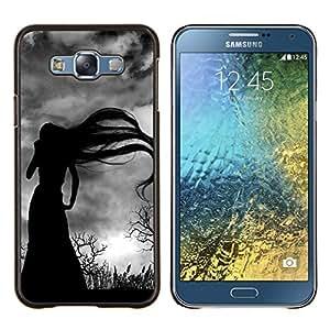 Stuss Case / Funda Carcasa protectora - Largo Bruja Cabello Bare Trees Spooky - Samsung Galaxy E7 E700