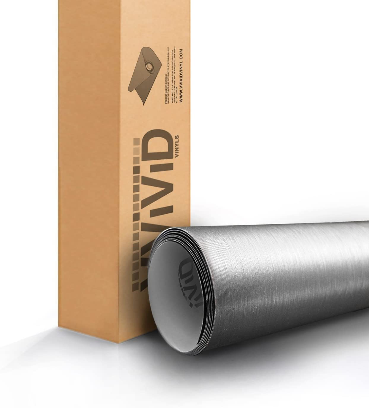 Silver Brushed Chrome 60 x 1ft Car Wrap Vinyl Roll with Air Release 3MIL-VViViD