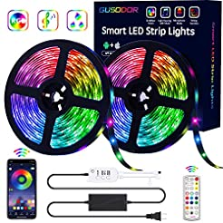 GUSODOR LED Strip Lights RGB Strips 32.8...