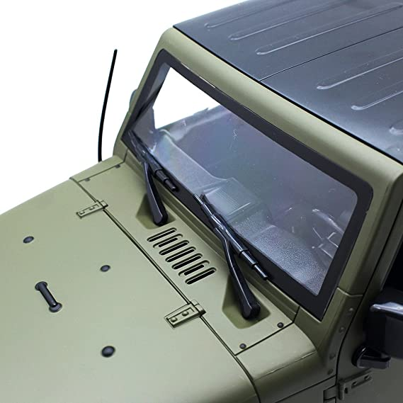 INJORA Verde Oliva RC Rock Crawler 1:10 Jeep Wrangler Rubicon Car Shell para Axial SCX10 Tamiya CC01 RC4WD D90 Carrocería de plástico Duro: Amazon.es: ...