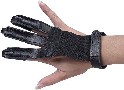 Archery gloves,3 Finger gloves,Shooting gloves,Archery leather gloves Gloves