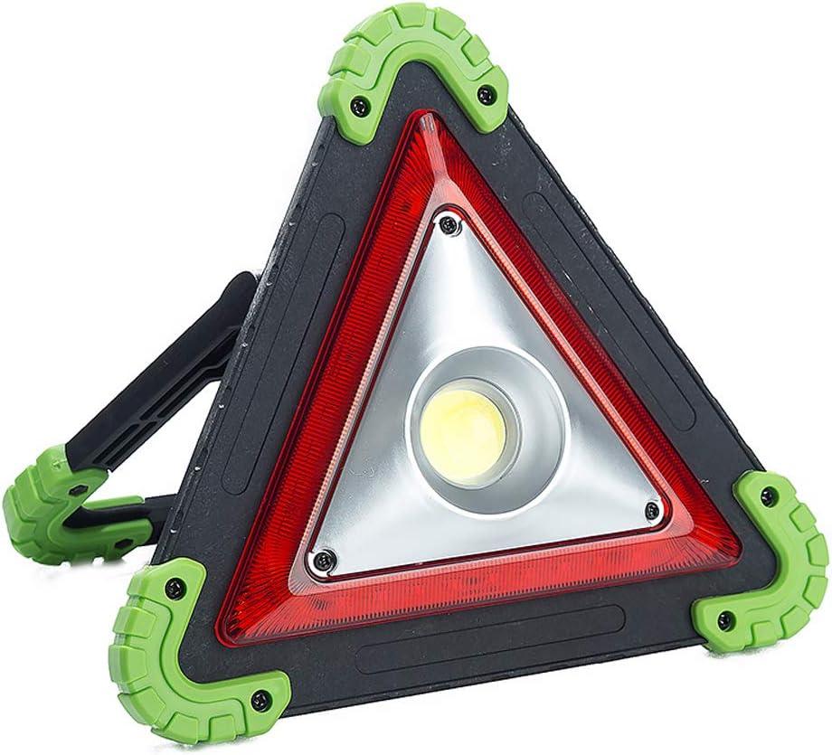 RENNICOCO Car Triangle Emergency Warning Light Rechargeable LED Work Light Red Hazard Flashing USB Power Bank Waterproof for Roadside Breakdown Repairing Garage USB Cable
