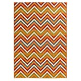 Carpet Art Deco Bellaire Collection Indoor Outdoor Rug, 5'3'' x7'5, Multicolor