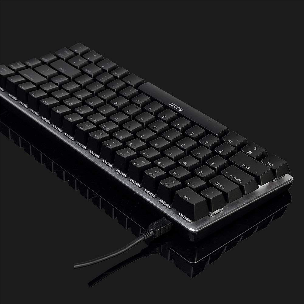 Dobetter ファッション有線メカニカルキーボードゲームキーボードアンチゴーストデザイン防水ゲーミングキーボード 顧客に愛されて (Color : Black Without light (Blue Switch)) B07RDKPDK6