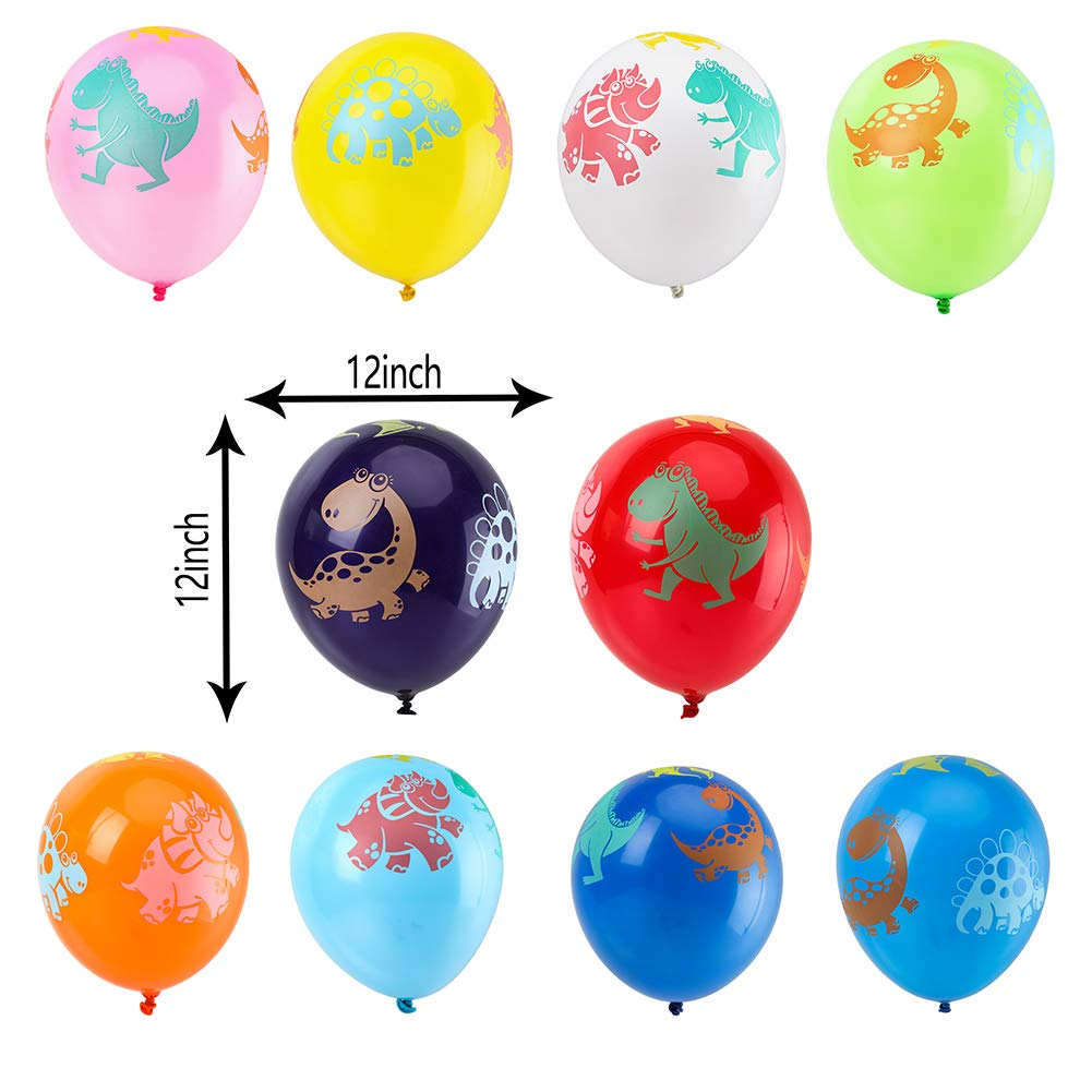 100pcs Dinosaur Birthday Balloons Party Pack Jurassic World Dinosaur Style Multicolored Balloons for Children