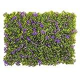Nearly Natural Clover Mat (Set of 12), 6'' x 6'', Purple/Green