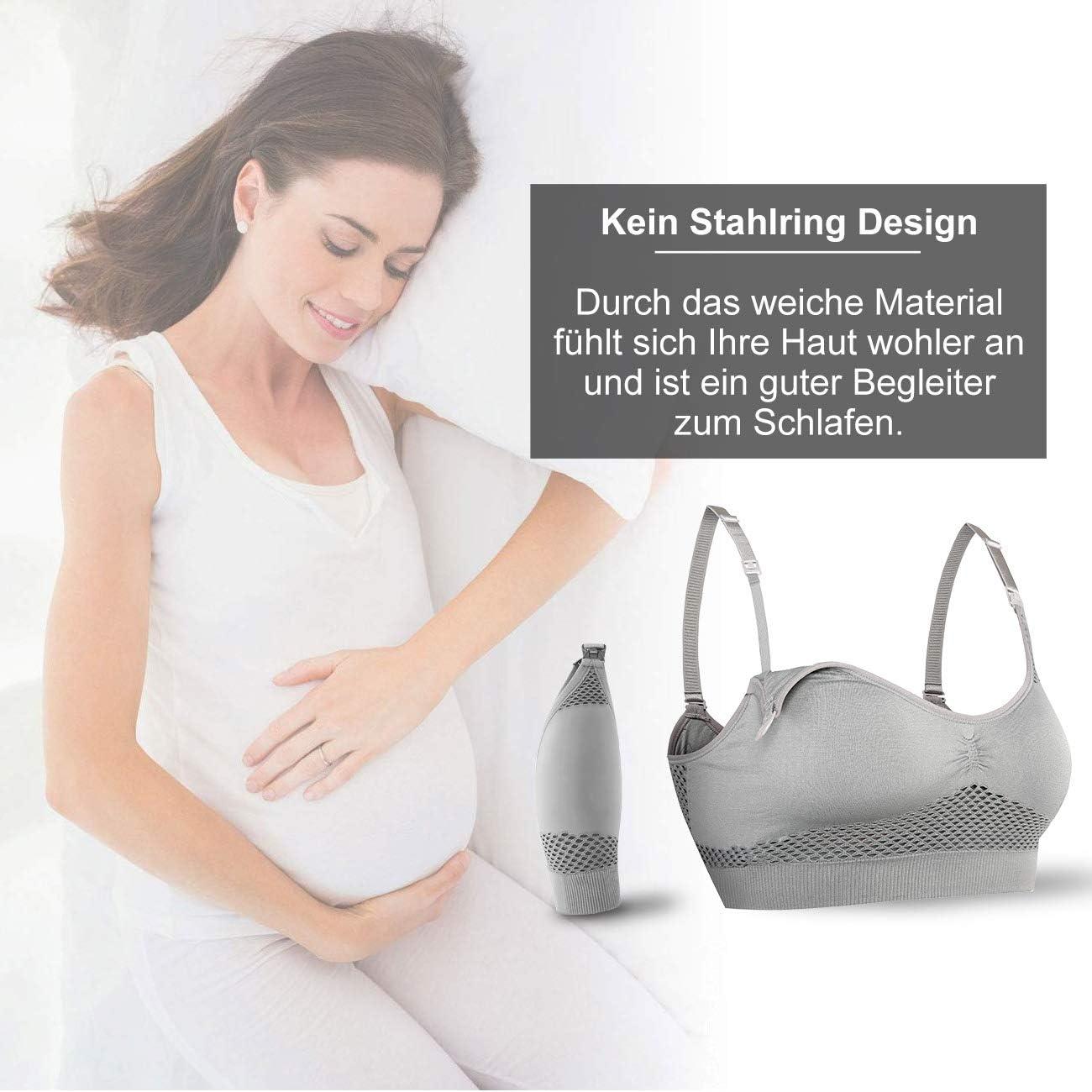 per allattamento senza ferretto notte Wirezoll sonno con inserti rimovibili Reggiseno da donna senza cuciture