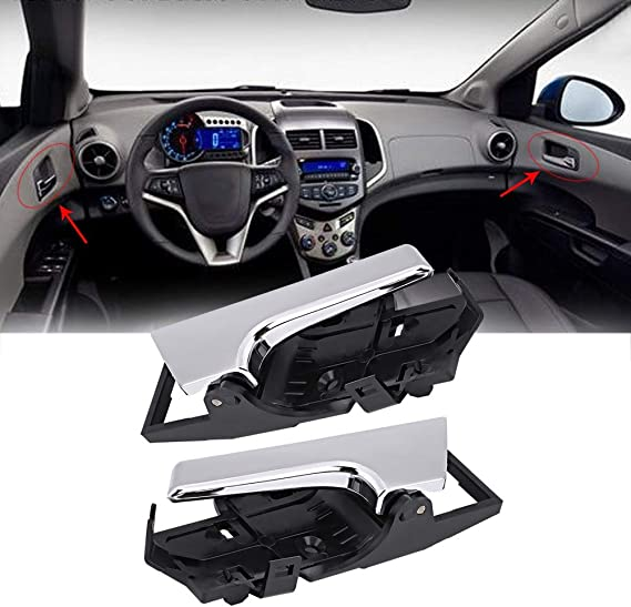 Nosii Maniglia Interna per Porta Interna Destra e Sinistra per Chevrolet Aveo Aveo5 96462709 96462710 Color : Left