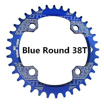 KOONARD Accesorios para Bicicleta de Montaña, Bicicleta MTB 104BCD Anillo de Cadena Redonda estrecha Amplia