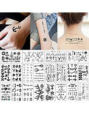 20 Sheets Black Tiny Temporary Tattoo Body Sticker Hand Neck Wrist Art Fashion