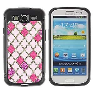 Hypernova Defender Series TPU protection Cas Case Coque pour Samsung Galaxy S3 III I9300 [Reticolo dell'oro Gates God Church Peach]