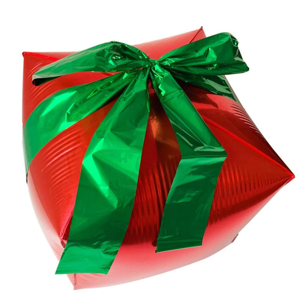 NUOBESTY 5pcs Palloncini Natalizi scatole Regalo Natalizie Creative Palloncini stagnola Decorazione Natalizia bomboniere
