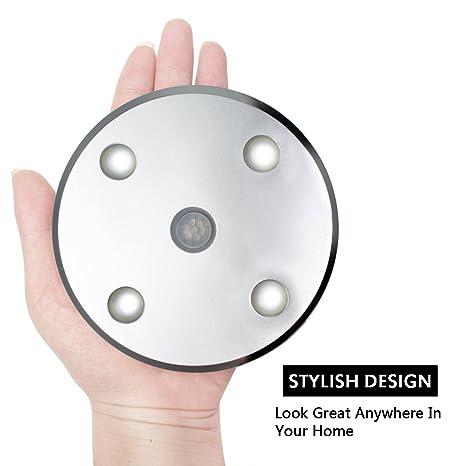 armario armario de movimiento inalámbrico PIR Detector Sensor noche de luz LED de la lámpara -