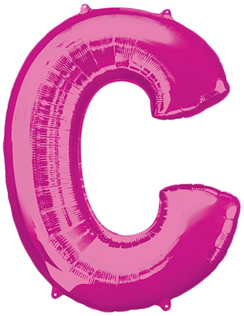 Anagram 35406 Letter C Pink Foil Balloon, 34'