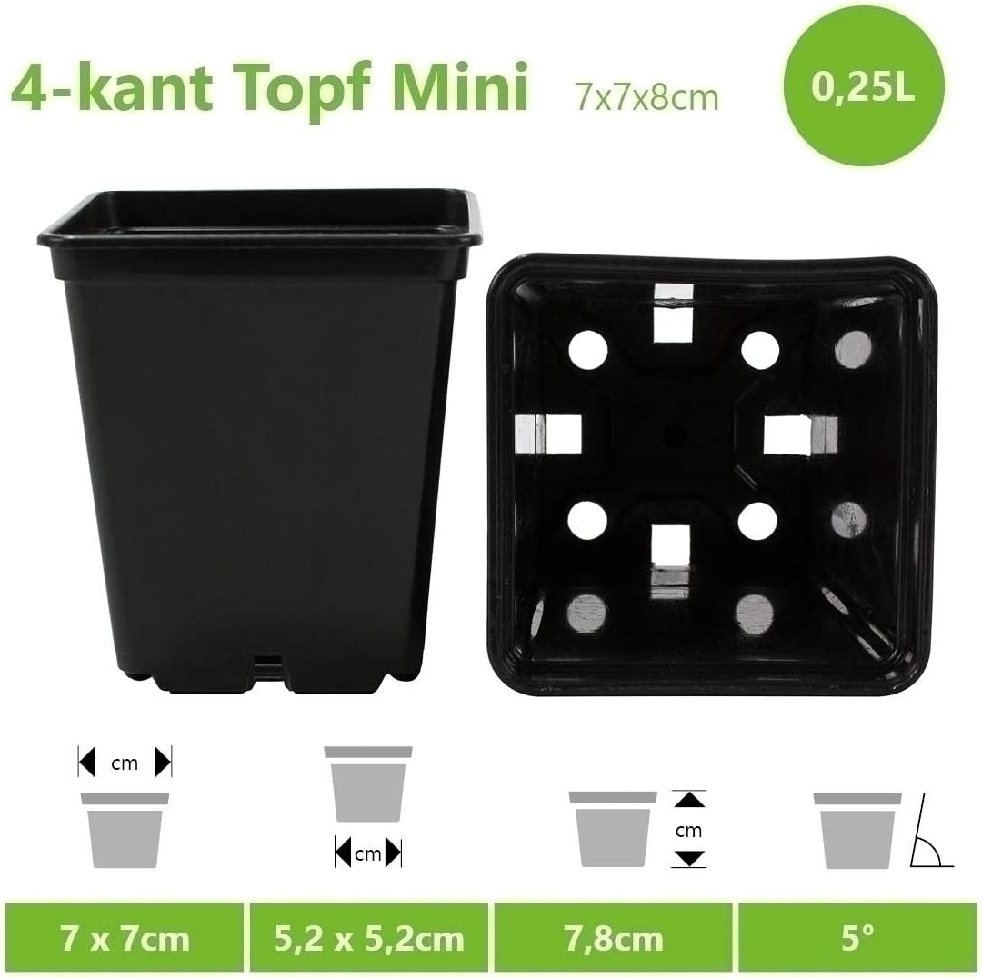 la grow-Box /• Pot de culture pour petites plantes e Pot de fleurs professionnel carr/é /• Plastique PP de haute qualit/é /• Id/éal pour lint/érieur et lext/érieur par exemple pour le jardin dhiver la terrasse