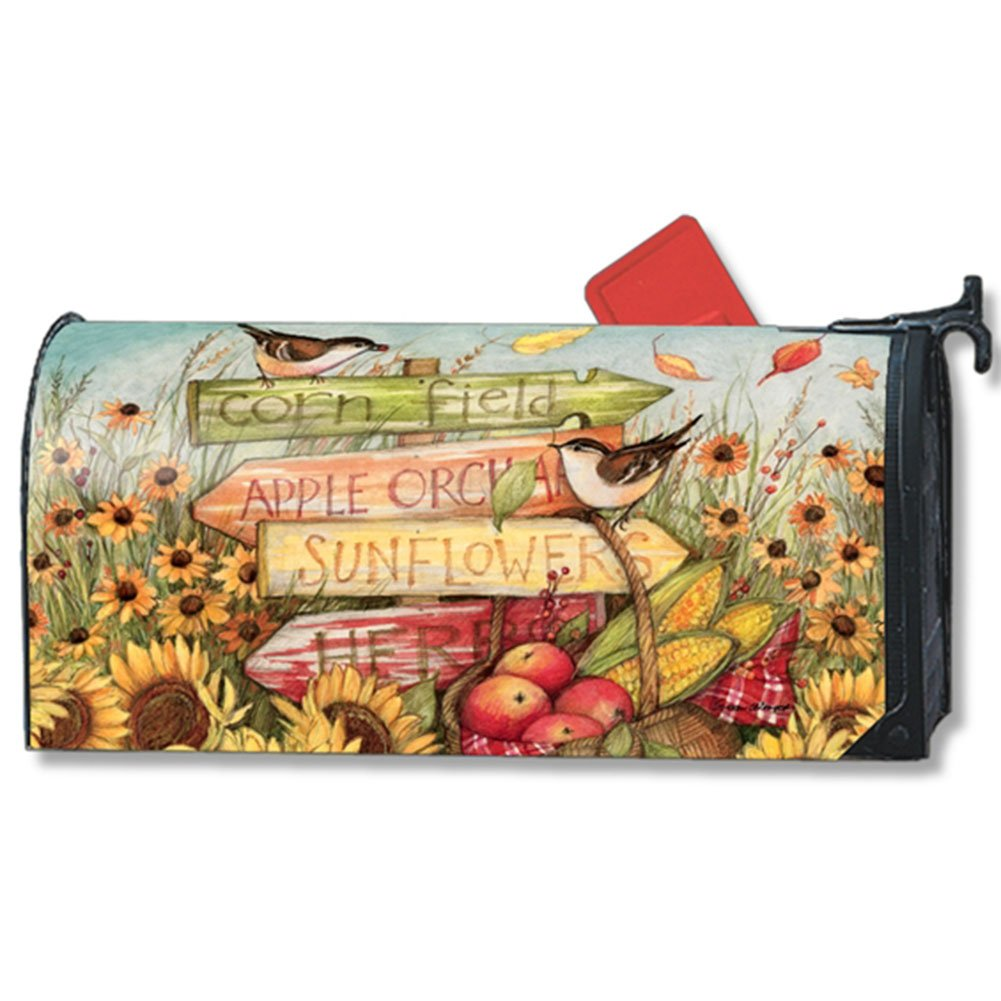 MailWraps Signs of Fall LARGE Magnetic Mailbox Cover #21427