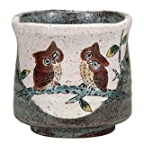 Japanese Yunomi Tea Cup Owl KUTANI YAKI(ware)