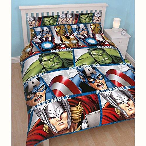 Disney Marvel Avengers Shield UK Double/US Full Duvet Set (Bedding Double Character)