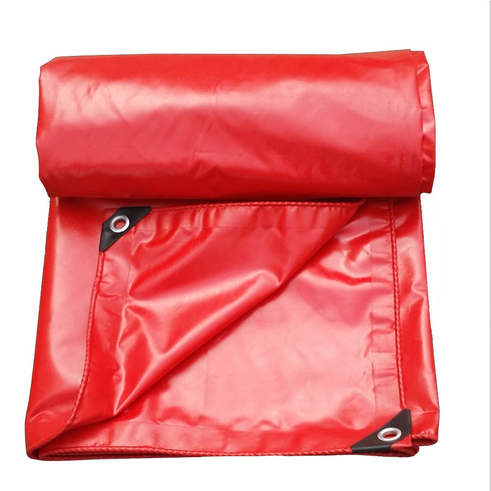 ZEMIN オーニング サンシェード ターポリン 防水 日焼け止め テント シート ルーフ 防風 老化防止 キャンバス ポリエステル、 赤、 550G/M²、 利用可能な9サイズ (色 : 赤, サイズ さいず : 3X5M) B07D686X3V 3X5M|赤 赤 3X5M