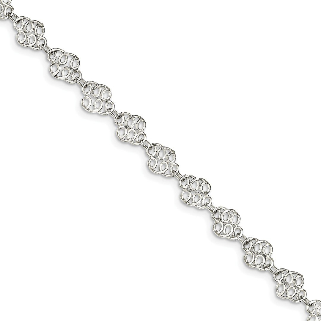 Ankle Bracelet Foot Jewelry Anklet - ICE CARATS 925 Sterling Silver 9 Inch Anklet Ankle Beach Chain Bracelet Fine Jewelry Ideal Gifts For Women Gift Set From Heart