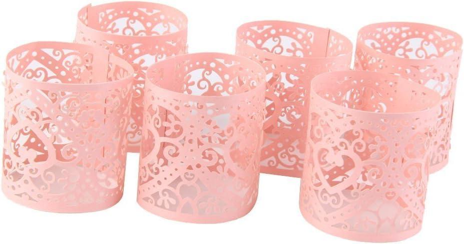 Wei/ß Laterne Serie Lumanuby 10x Kleine Hohl Lampenschirm aus Papier Delicate Blume Lantern f/ür LED Licht Hochzeit//Party//Bar Zubeh/ör