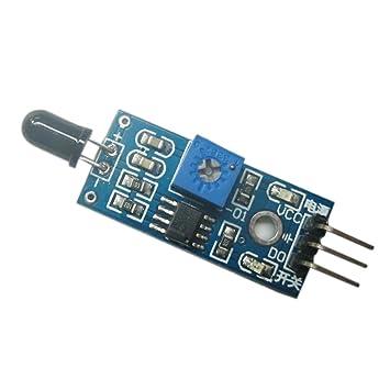 Kongnijiwa Módulo del Sensor del Detector de Incendios módulos Infrarrojos IR de detección de Llama para Arduino: Amazon.es: Hogar