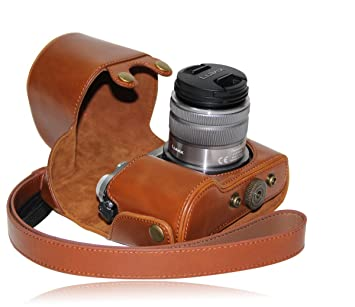 MegaGear MG207 Estuche para cámara fotográfica - Funda (Funda, Panasonic, Lumix DMC-GX7, Marrón)