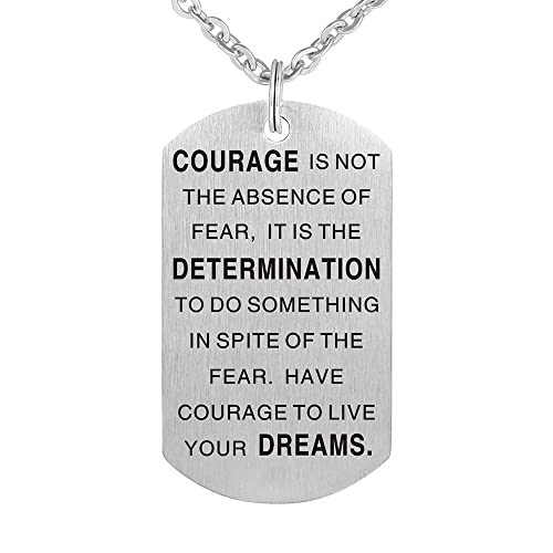 Amazon.com: Acero inoxidable coraje NO es la ausencia de ...