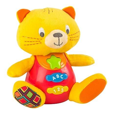 Winfun - Peluche Gato para bebés que habla & luces de colores - Idioma: español
