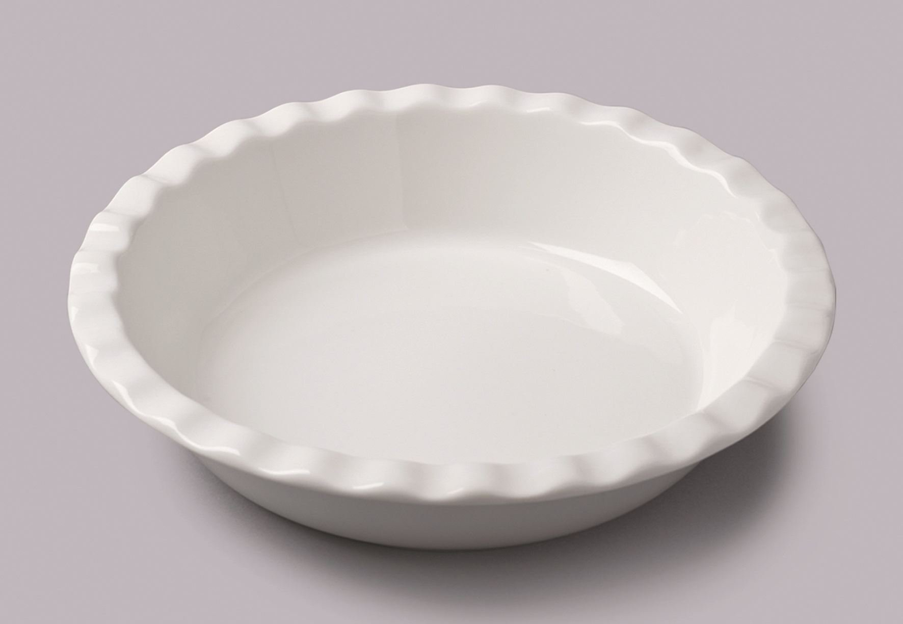 WM Bartleet and Sons Large Ceramic Ruffled Pie Dish 10.5'' by WM Bartleet & Sons (Image #1)