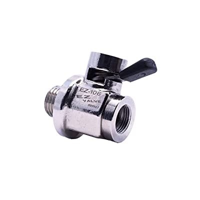 EZ (EZ-106) Silver 14mm-1.5 Thread Size Oil Drain Valve: Automotive
