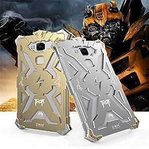 Ddj Huawei Ascend Mate 7funda de aluminio Thor diseño Ultrathin metal y cristal, diseño de teléfono móvil para Huawei Ascend Mate7(Oro, Plata, Negro)