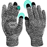 Winter Gloves for Women Knitted Touchscreen Gloves, Windproof, Thermal Soft Wool Lining, Smartphone Gloves