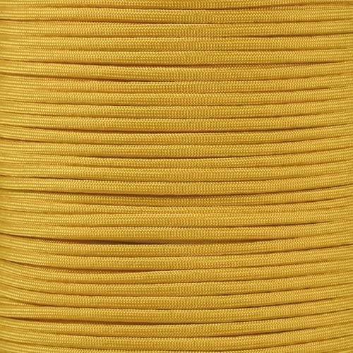 Yellow 50 Feet PARACORD PLANET 10 20 25 50 100 Foot Hanks and 250 1000 Foot Spools of Parachute 550 Cord Type III 7 Strand Paracord
