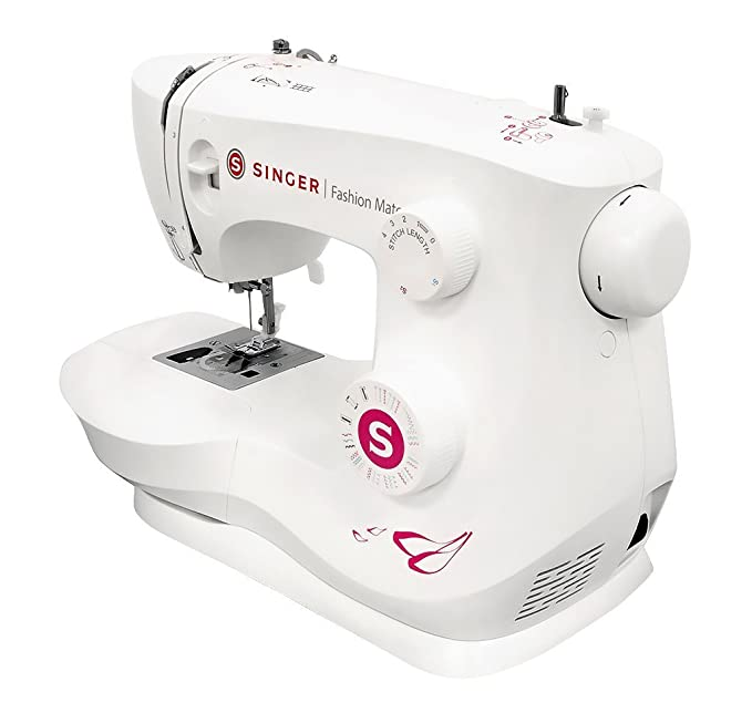 SINGER Fashion Mate - Máquina de coser (Blanco, Máquina de coser automática, Costura, Paso 4, Variable, palanca, Giratorio): Amazon.es: Hogar