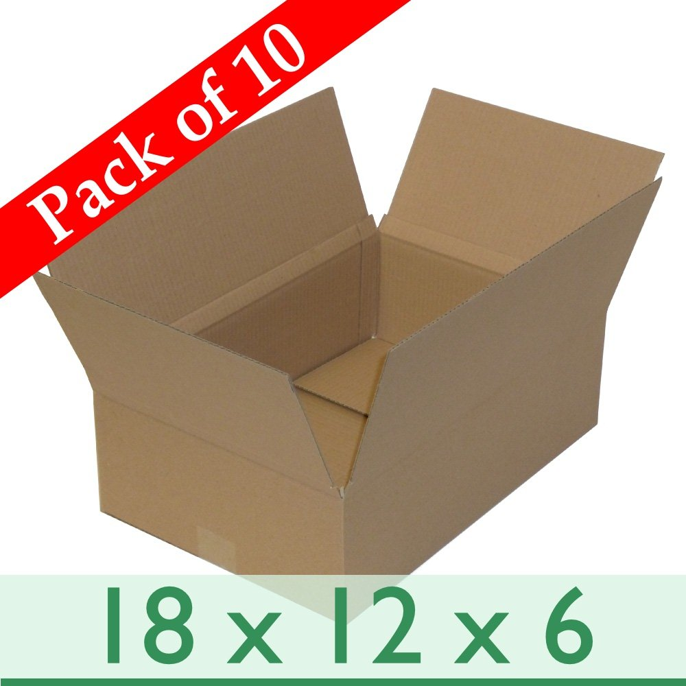 10 x Brown Mailing Packages Gift Single Wall Cardboard Boxes - 18