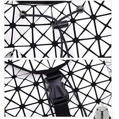 géométrique à Dos Voyage Laser Sac Sacoche Sac beige Gxinyanlong de à à Sac Femme bandoulière Lingge Dos UwqSqxdp