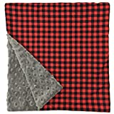 Original Baby Elephant Ears Boys & Girls Baby Blanket-Soft Minky, For Newborn Infants & Toddlers, Plush Blanket - (Buffalo Plaid, Large 27'' x 29'')