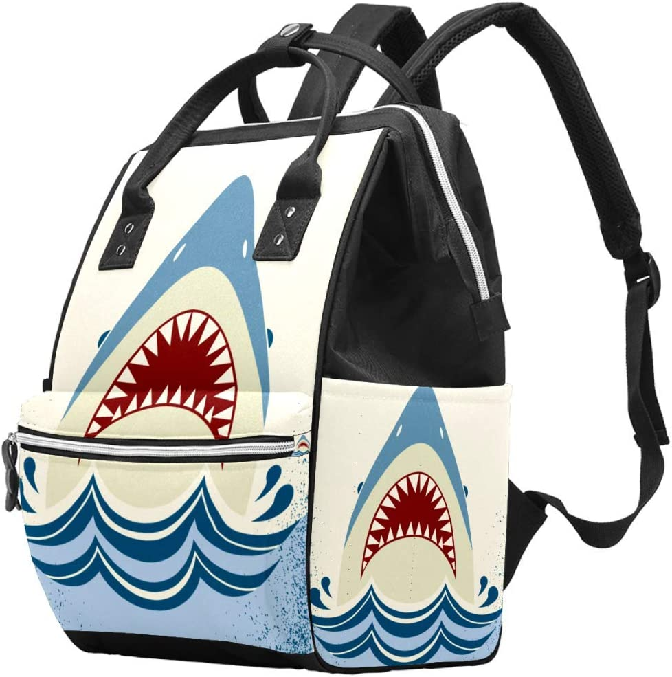 Cute Fish Animal Marine Life Cartoon Diaper Bag Laptop Backpacks Notebook Rucksack Travel Hiking Daypack for Women Men