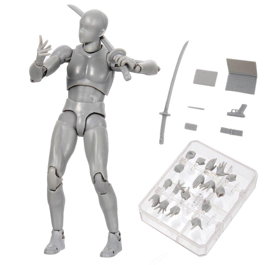 lzndeal Body Kun Doll PVC Body-Chan DX Set con Accessori Action Figure Model per SHF Nero, Femmina