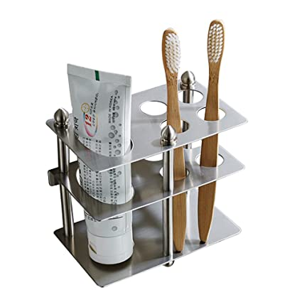 Amazon.com: Mellewell Toothbrush Holder Toothpaste Organizer Stand ...