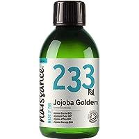 Naissance Organic Golden Jojoba Oil (nr. 233) 250ml - Puur en natuurlijk, gecertificeerd biologisch, ongeraffineerd…